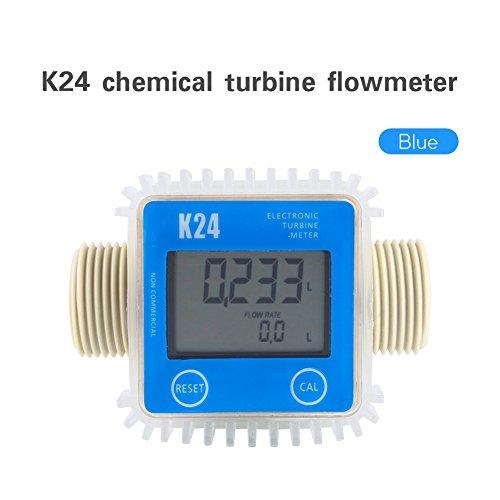 Blue Pro K24 Turbine Digital Diesel Fuel Flow Meter For Chemicals Water