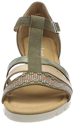 Sandalia Grata K Shoes Para Pulsera Gabor Verde Con oliv Comfort Sport Mujer qZO44xntP