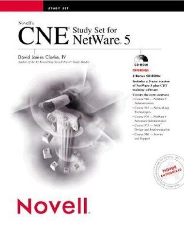 Novell's CNE Study Set for Netware 5 (NEW IN SHRINK WRAP, 3 CD-ROMS) by NOVELL PRESS