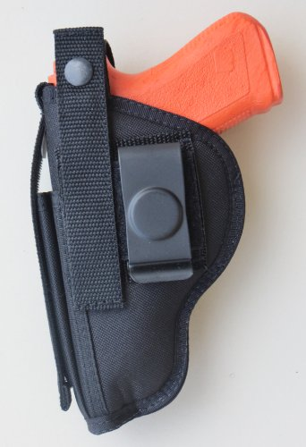 Ambidextrous Hip Holster with Magazine Pouch Fits Glock 19, 23, 29, 30, and 32