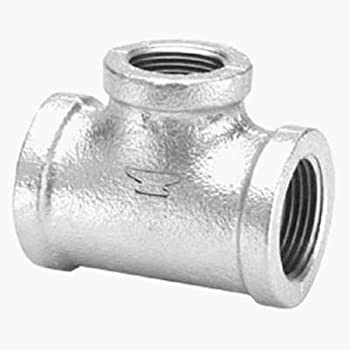 """Anvil 8700120952, Malleable Iron Pipe Fitting, Tee, 3/4"""" NPT Female, Galvanized Finish"""