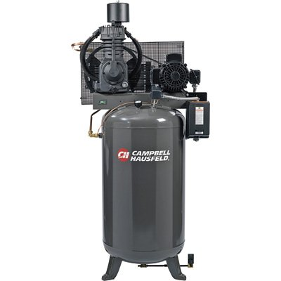 - Campbell Hausfeld Fully Packaged Air Compressor - 7.5 HP, 24.3 CFM @ 175 PSI, 230 Volt Single Phase, Model# CE7000FP