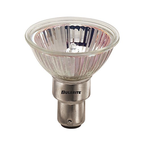 Clear Bulbrite 643221 FST//L 20W Dimmable Halogen Lensed MR11 Bulb with Double Contact Bayonet Base