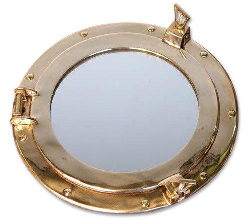 Nostalgico Specchio obl/ò in Ottone Maritim 29 cm