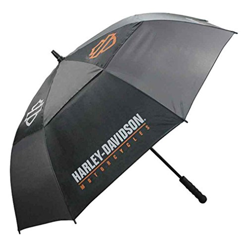 Harley-Davidson Bar & Shield HD Script Golf Umbrella Black & Charcoal UMB516804
