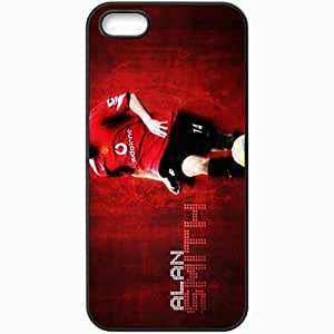 Personalized iPhone 5 5S Cell phone Case/Cover Skin Alan smith man utd manchester united Black