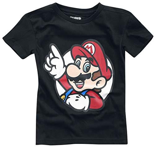 Super Mario It's A Me T-shirt zwart 146/152 100% katoen Fan merch, Gaming, Nintendo