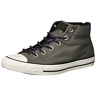 Converse Men's Chuck Taylor All Star Street Mid Sneaker, Mason/Black/White, 5 M US