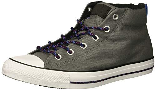 Converse Men's Chuck Taylor All Star Street Mid Sneaker, Mason/Black/White, 8 M US