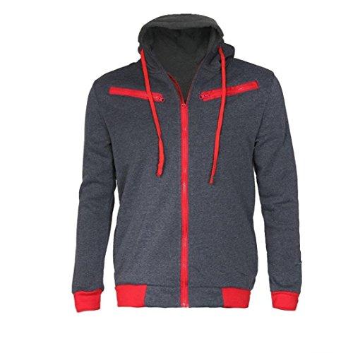 New ornament New Men Slim Warm Hoodie Hooded Sweatshirt Coat