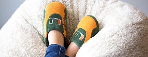 Happy Feet Menns Og Kvinners Offisielt Lisensiert Ncaa College Lave Pro Tøfler Miami Orkaner
