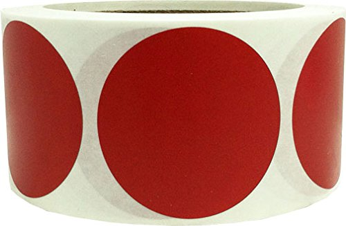 - Cranberry Color Coding Labels for Organizing Inventory 2 Inch Round Circle Dots 500 Total Adhesive Stickers On A Roll
