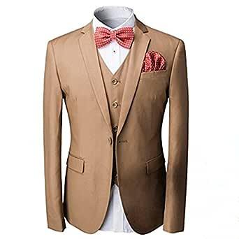 Traje para hombre de 3 piezas Cloudstyle corte entallado, chaqueta ...