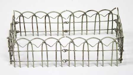 Set of 2 - Miniature Victorian Garden Picket Fence for Dispalys, Fairy Gardens, and Crafting ()