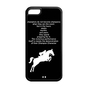 5C Phone Cases, Horse Hard TPU Rubber Cover Case for iPhone 5C