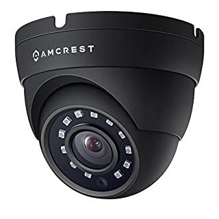 Amcrest Full HD 1080P 1920TVL Dome Outdoor Security Camera (Quadbrid 4-in1 HD-CVI/TVI/AHD/Analog), 2MP 1920x1080, 98ft Night Vision, Metal Housing, 3.6mm Lens 90° Viewing Angle, Black (AMC1080DM36-B)