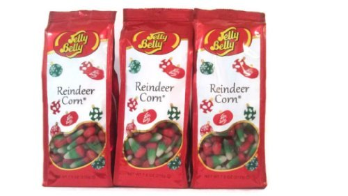 Jelly Belly Reindeer Corn (Candy Corn) 3(Packs/Bags) 7.5 Ounce Gift Bags