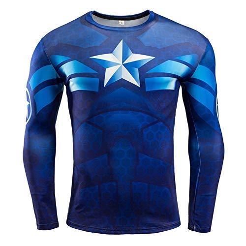 PKAWAY Cool Mens Long Sleeve Compression Shirt Black Panther Graphic Tee Shirt