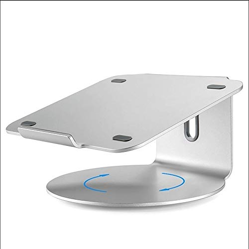 ROLLCHC Laptop Stand Aluminum Ventilated Stand Update Version - Ergonomic Riser Portable Holder for MacBook Pro, All Notebooks,Silver (Color : Round Bottom) from ROLLCHC