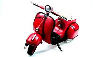 Jayland 1959 Vespa Gs 150 - Moto a escala 1:18, color rojo