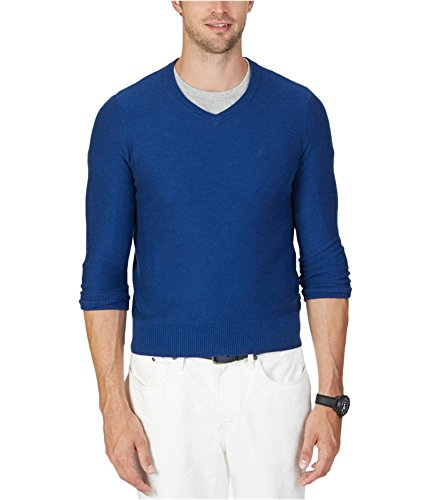 Nautica Mens Knit Ribbed Trim Pullover Sweater Blue XXL ()