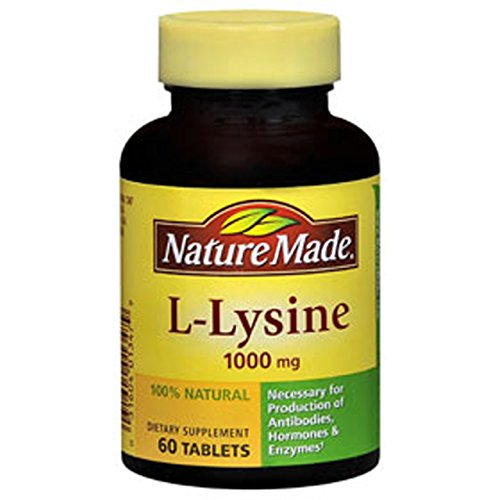 Nature Made L Lysine 1000mg, 60 Tablets (Pack of 3)