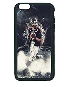 Johnny Manziell Keep Running ~ iPhone 6 Plus Rubber Tpu Case ~ Silicone Patterned Protective Skin Rubber Case Cover for Apple iPhone 6 Plus with 5.5 inch - Haxlly Designs- Black Case