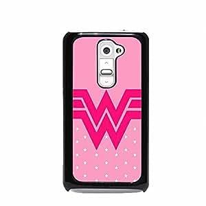Wonder Woman Leotard Pink Cancer LG G2 Hard Plastic Case (Not for Verizon)