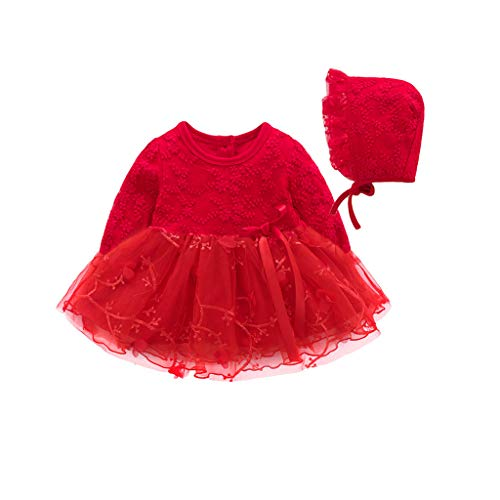 Qpika Autumn Spring Infant Baby Fashion Girls Party Lace Tutu Princess Dress Clothes Outfits