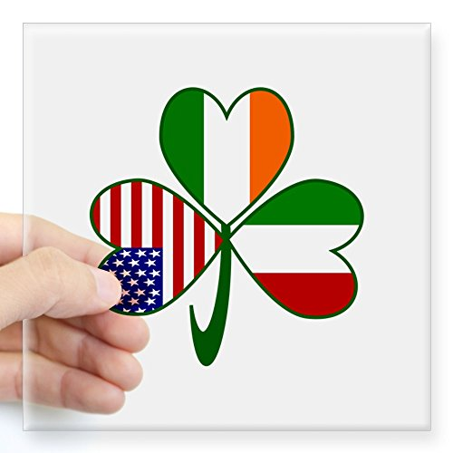 Italy Square - CafePress - Shamrock Of Italy Square Sticker 3