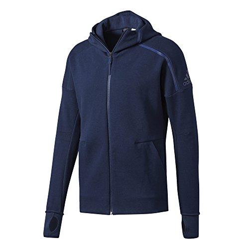 Adidas ZNE FZ Running Hoodie - SS17 - Large - Navy Blue