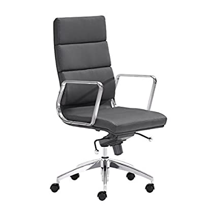 Zuo Modern Engineer High Back Office Chair Black  sc 1 st  Amazon.com & Amazon.com: Zuo Modern Engineer High Back Office Chair Black ...