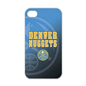 iPhone 4/4s TPU Case with Denver Nuggets Team Logo (Laser Technology)-by Allthingsbasketball