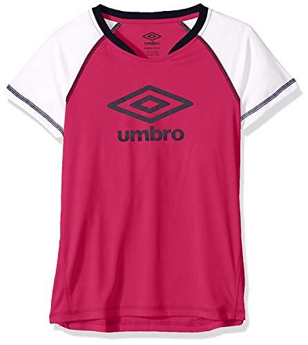 Umbro Girls Kick Sweep Raglan Top Pink Yarrow/White Size ()
