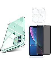 Kit Capa Capinha, Película 9D Privacidade, Película de Câmera 3D para iPhone 11 Tela de 6.1 Polegadas - (C7COMPANY)