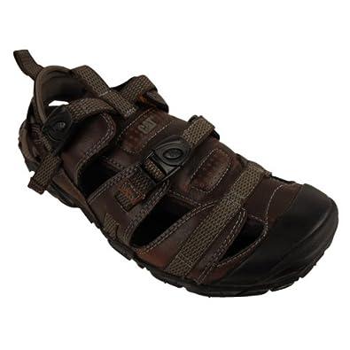 d2864f480 Mens Caterpillar CAT Equinox Brown Leather Sandal Walking Hiking Sandals UK  9: Amazon.co.uk: Shoes & Bags