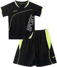 YOOJIA Kids Boys Summer Basketball Tracksuits Uniform Short Sleeves T-Shirt + Short Pants Clothes Outfit Set