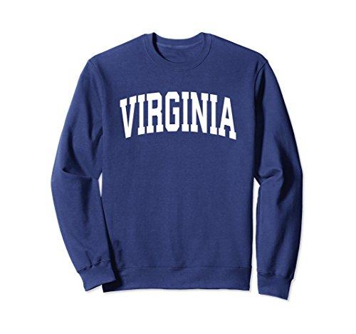 Virginia Crew Sweatshirt - Unisex Virginia Crewneck Sweatshirt Sports College Style State Gift Large Navy