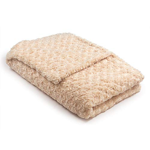 42x72 16lb Champagne Chenille Magic Blanket - The Blanket That Hugs You Back | World's 1st Weighted Blanket |Molds to Body Increasing Serotonin|Great for Anxiety & Insomnia| Made in USA