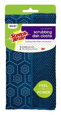 Scotch-Brite Dishwashing Cloths Non-Scratch Scrub Dots Kitchen Scrubber Sponges Bundle by Scrub Dots (Image #2)