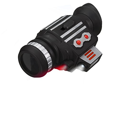 (MukikiM SpyX / Power Scope - Powerful Monocular Spy Toy to See Up to 25 ft. away, even in the Dark using the Red OR White Light. Perfect addition for your spy gear collection!)