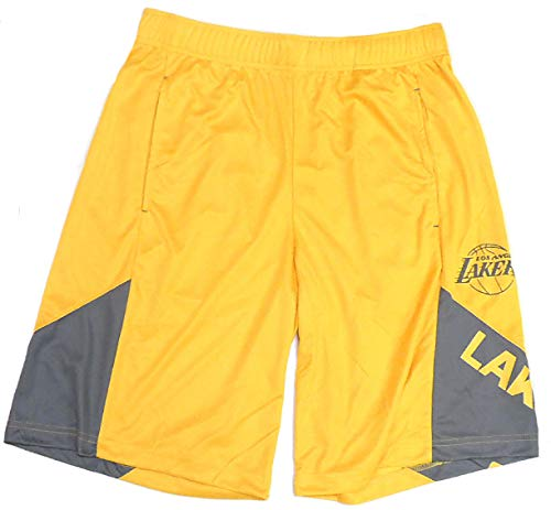 - NBA Men's My Favorite Game Synthetic Shorts (X-Large, Los Angeles Lakers)
