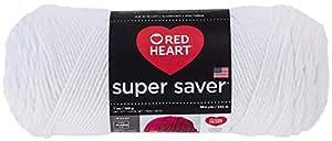 Red Heart  Super Saver Economy Yarn, White