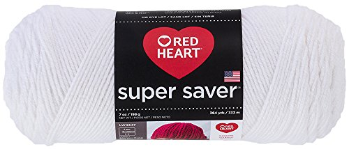Red Heart Super Saver Economy Yarn, White