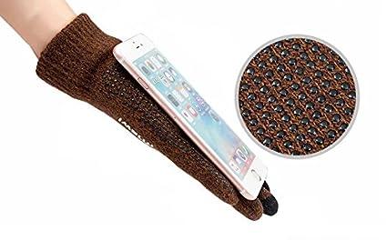 Wicemoon Gants Jacquard Homme Hiver Automne Moufles Tricot/é /à Laine Gant en Cachemire Chaud Gants de Cyclisme//Moto//V/élo Epais Mitaines Ecran Tactile Itouch pour T/él/éphone