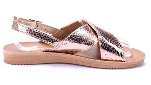 ff48133f3a8823 Schuhtempel24 Damen Schuhe Sandalen Sandaletten Flach Rosa Schuhtempel24  Damen Schuhe Sandalen Sandaletten Flach Rosa ...