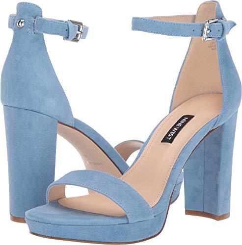 Nine West Women's Dempsey Heeled Sandal Medium Blue 8 M US