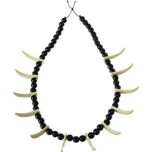 Forum Novelties Stone Age Teeth Necklace Costume Accessory -