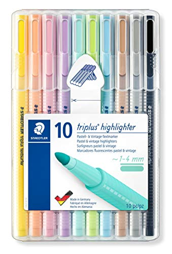 Triplus Textsurfer 362 Staedtler Box of 10 Highlighters with Bullet Tip 1 to 4 mm ()