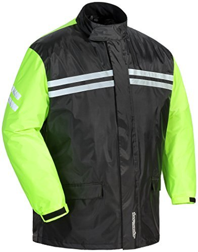 Tourmaster Shield Two-Piece Rainsuit (Black/Hi-Viz, XX-Large) XF-10-8789-0113-08